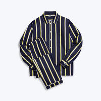 SLEEPY JONES // Henry Pajama Set Collegiate Stripe Navy, Yellow&White