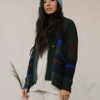 KORDAL / Gina Striped Cardigan Forest