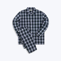 SLEEPY JONES // Bishop Pajama Set Stewart Plaid Green, Blue & White