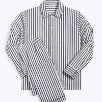 SLEEPY JONES / Henry Pajama Set Breton Stripe Navy & Cream