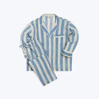 SLEEPY JONES // Marina Pajama Set Blue Bold Painted Stripe