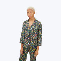 SLEEPY JONES // Marina Pajama Shirt Navy Liberty Edenham Floral