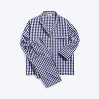 SLEEPY JONES // Marina Pajama Set Large Gingham Navy