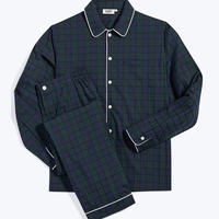 SLEEPY JONES / Henry Pajama Set Black Watch Jacquard