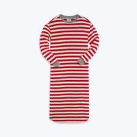 SLEEPY JONES // Nina Dress Red Slub Stripe
