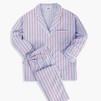 SLEEPY JONES / MARINA PAJAMA SET Red, Blue & White Dual Stripe