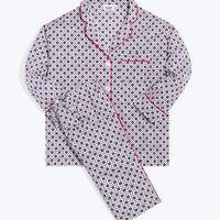 SLEEPY JONES / Marina Pajama Set Red, White & Blue Block Print