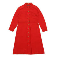 The denim jacket as dress in silk
