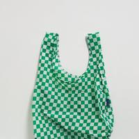 BAGGU // Standard Baggu Green Checkerboard