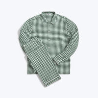 SLEEPY JONES // Henry Pajama Set Large Gingham Green Flannel
