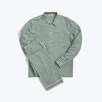SLEEPY JONES // Henry Pajama Set Large Gingham Green Flannel