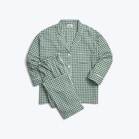 SLEEPY JONES // Marina Pajama Set Large Gingham Green Flannel