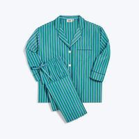SLEEPY JONES / Marina Pajama Set Green, Blue & White Shadow