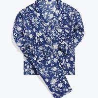 SLEEPY JONES / Marina Pajama Set Indigo Wallpaper Floral
