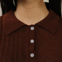 KORDAL / Laura Collared Sweater Hickory
