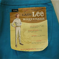 ヴィンテージ、Lee Lady WESTERNER,ブルー