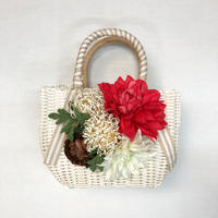 Flower Bag White M    【Dahlia pincushion】
