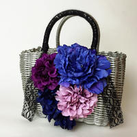 Flower Bag Silver M      ~Purple Bule~お花増量タイプ