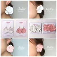 Flower accessory 【レザー紫陽花】ピアス/イヤリング