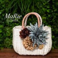 Flower Bag White M    【Aqua】