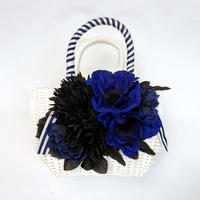 Flower Bag White M    【Anemone Blue】