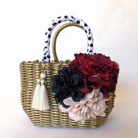 Flower Bag    Gold   M               【Red Peony】