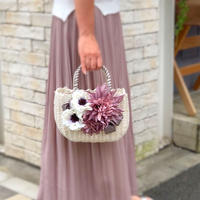 Flower Bag White M    【lilac】