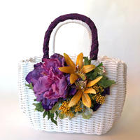 Flower Bag White M    【purple 】