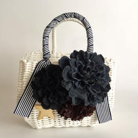 Flower Bag White M     【Denimd Dahlia 】