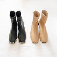 Square Toe Socks Boots