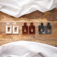 Tortoiseshell Square Earrings