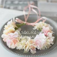 春のさくらトピンクホワイト・花かんむり