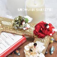 【限定】クリスマススノーマンバレッタ
