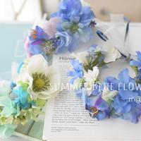 サマーブルー花かんむり