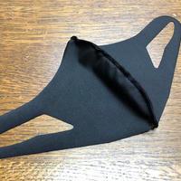 【冷感 夏用マスク】UVカット UPF50+ 立体マスク 水着素材 速乾 洗えるマスク 男女兼用 伸縮性あります ブラック