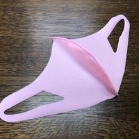 【冷感 夏用マスク】UVカット UPF50+ 立体マスク 水着素材 速乾 洗えるマスク 男女兼用 伸縮性あります ピンク