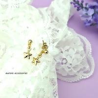 star pierced earrings 星のピアス ゴールド