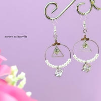 hoop pierced earrings フープ&トライアングルのピアス