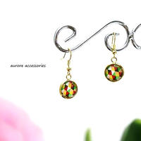 colorful pierced earrings カラフルピアス