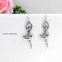 ballet pierced earrings バレリーナのピアス  大きめ