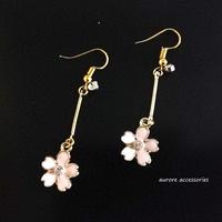 cherry blossoms pierced earrings