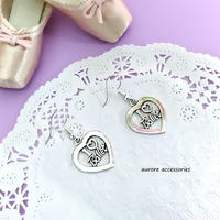 I LOVE BALLET pierced earrings バレエ&ハートのピアス