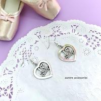 I LOVE BALLET pierced earrings バレエ&ハートのピアス