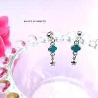 flower pierced earrings フラワー&星のピアス