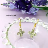 cross pierced earrings 十字架のピアス