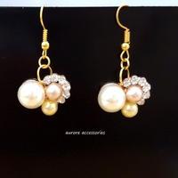 pearl pierced earrings パールビジューのピアス
