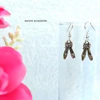 pointe shoes pierced earrings バレエシューズのピアス