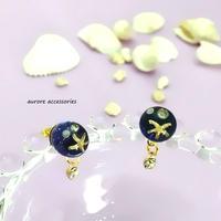 starfish pierced earrings ヒトデのスタッドピアス