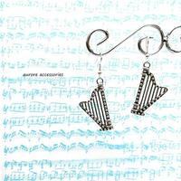 harp pierced earrings ハープのピアス