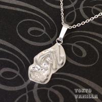"""イニシャル """"M"""" Hawaiian Jewelry Silverネックレス"""